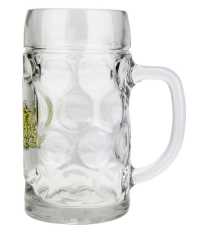German Personalized Dimpled Beer Mug with Bayern Crest