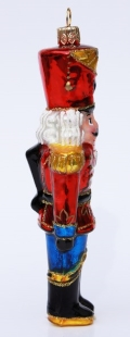 Authentic German Nutcracker Glass Christmas Ornament