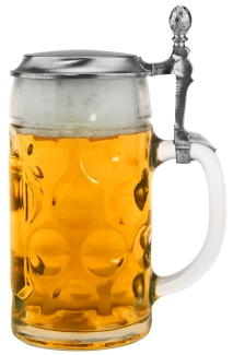 Dimpled Glass Stein with Pewter Lid