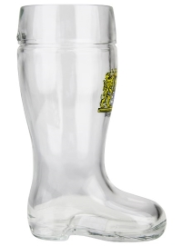 Glass Beer Boot with Personalized Engraving Option