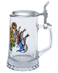 Personalized Bavarian Beer Stein with Lid
