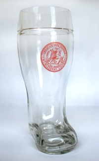 Beer Boot with Single Color Logo Printed on Front