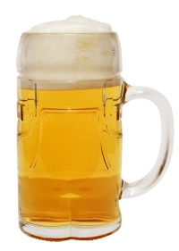 Glass Beer Mug in Shape of Lederhosen