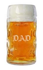 Personalized Dimpled Glass Mug for Dad