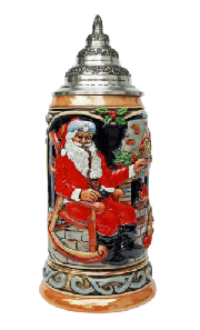 Santa at Home Christmas Beer Stein