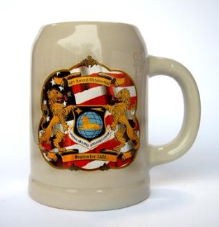 Custom Oktoberfest Logo on Half Liter Stoneware Mug