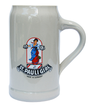 St. Pauli Girl Stoneware Beer Mug 1 Liter