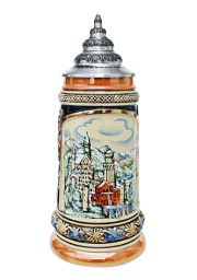 Neuschwanstein in Winter Christmas Beer Stein