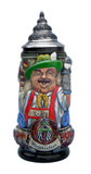 Alpine Oktoberfest Beer Stein Traditionally Dressed German Man