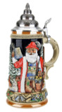 Authentic Christmas Beer Stein with Pewter Lid