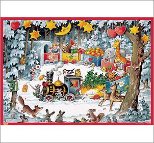christmas train german advent calendar. Black Bedroom Furniture Sets. Home Design Ideas