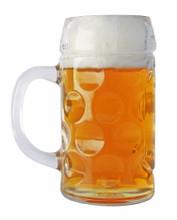 Dimpled Oktoberfest Glass Beer Mug 0.5 Liter