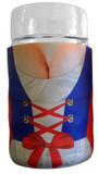Dirndl Beer Mug Koozie for 1 Liter Dimpled Mugs, Front View