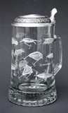 Fishing Lures Glass Beer Stein