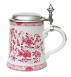 Pink Flowers Porcelain Beer Stein