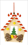 Gingerbread House Wooden German Ornament