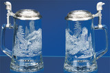 Bald Eagle Glass Beer Stein