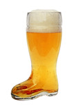 Glass Beer Boot 0.5 Liter
