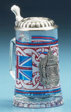 Traditional England Themed Glass Beer Stein