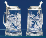 Grizzly Bear and Moose Glass Beer Stein