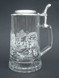 Personalized Engraved Hockey Beer Glass