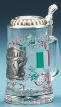 Personalized Italia Glass Beer Stein