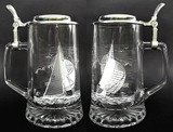 Custom Engraved Sailing Themed German Beer Mug