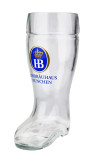 Hofbrauhaus HB Glass Beer Boot 0.5 Liter