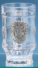 Custom Engraved Medical Glass Facet Mug