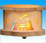 Nativity Wooden Tea Light German Luminary