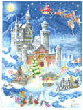 Neuschwanstein Christmas German Advent Calendar