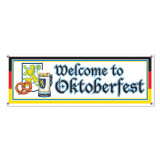 Welcome to Oktoberfest All Weather Party Banner