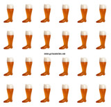 Plastic Beer Boot 24 pack 1 Liter
