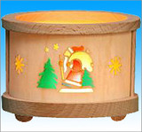 Santa Wooden Tea Light German Luminary