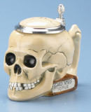 Skull and Book Beer Stein