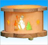 Snowman Wooden Tea Light German Luminary