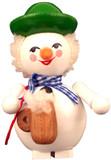 Steinbach Bavarian Snowman Wooden German Ornament
