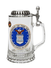 Authentic German Beer Glass with US Air Force Seal