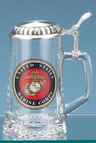 U.S. Marine Corps Glass Beer Stein