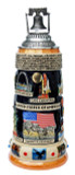 United States Panorama Beer Stein with Liberty Bell Lid