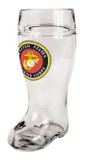 Custom Engraved USMC Beer Boot with Eagle, Globe, & Anchor