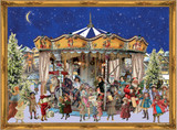 Victorian Christmas Merry Go Round German Advent Calendar
