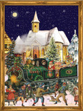 Victorian Christmas Train German Advent Calendar