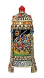 Medieval Tower Beer Stein with Stoneware Lid