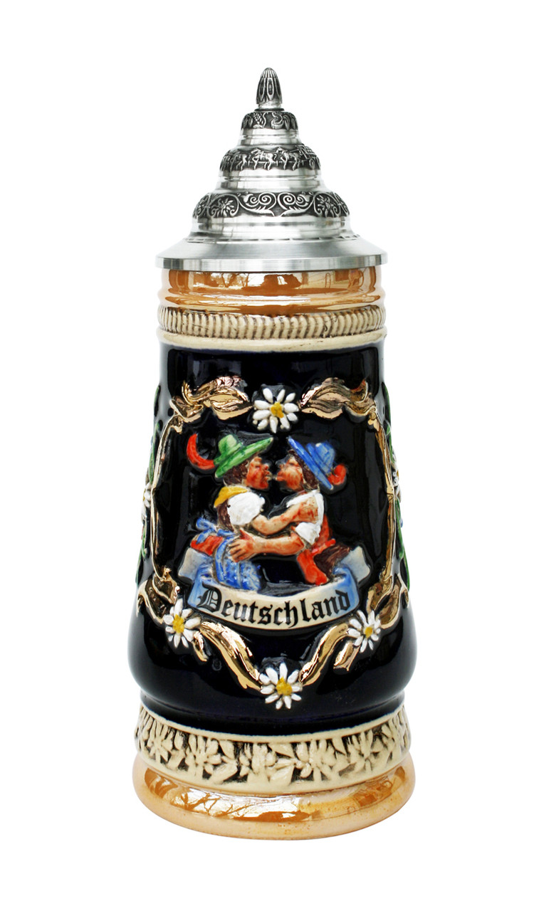 Advent Calendar Ideas Wedding : Kissing couple german beer stein liter