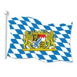 Bavarian Flag Paper Cutout Sign