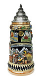 King Werk Oktoberfest Beer Stein with Hoisting Handle