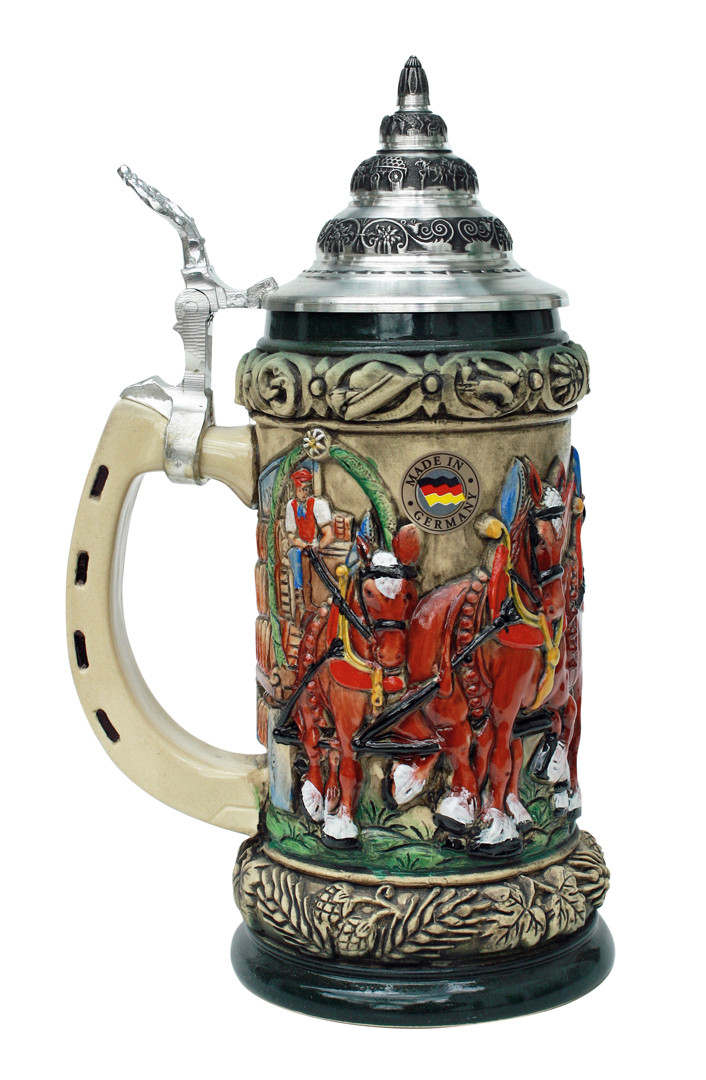 Oktoberfest Clydesdales And Beer Wagon Stein Rustic