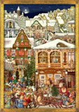 Victorian Christmas Village German Advent Calendar