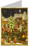 Victorian Christmas Train Advent Calendar Card